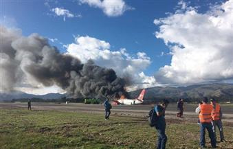 نجاة جميع ركاب طائرة في بيرو اشتعلت بها النيران وعلى متنها 141 شخصًا
