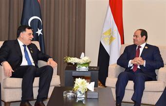 تفاصيل لقاء السيسي رئيس المجلس الرئاسي لحكومة الوفاق الوطني في ليبيا