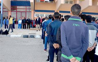 رئيس جامعة بورسعيد يتفقد كلية التربية الرياضية ويجتمع بأعضاء هيئة التدريس