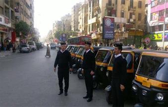 بالصور.. استمرار الحملات المرورية بمحاور العاصمة وضبط 10 آلاف مخالفة