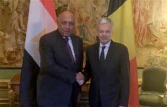 وزير خارجية بلجيكا يعرب عن تقدير بلاده الكامل للتطورات الإيجابية التي تشهدها مصر