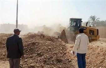 إزالة 5 حالات تعد على نهر النيل بالمراغة فى سوهاج