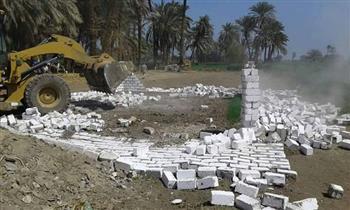 إزالة 77 حالة تعدٍ على أراضي الرى والزراعة وأملاك الدولة بسوهاج