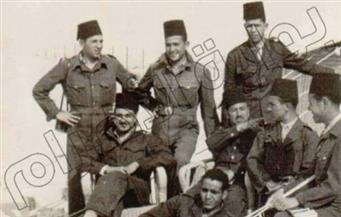 صورة نادرة للشهيد عبدالمنعم رياض أثناء مشاركته في الحرب العالمية الثانية بالصحراء الغربية