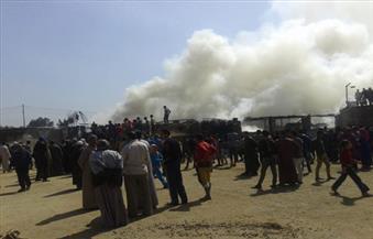 حريق في مصنع أعلاف بعزبة داود بالدقهلية دون إصابات بشرية