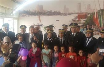 مديرية أمن الجيزة تحتفل بيوم اليتيم في نادي الشرطة