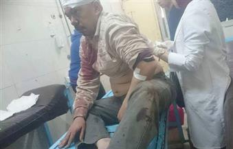 """بالصور.. قيادات أمن الغربية تزور مصابي انفجار """"شرطة طنطا"""""""
