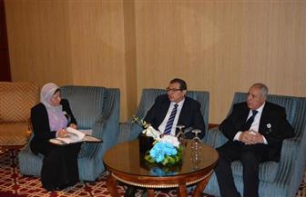 """""""سعفان"""" يبحث مع وزير العمل الجزائري التعاون في مجال عمل الوزارتين"""