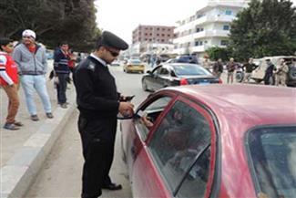 ضبط 1143 مخالفة مرورية في حملة أمنية بالإسماعيلية