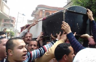 بالصور.. جنازة عسكرية لشهيد حادث المرقسية بمسقط رأسه في البحيرة