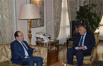 سامح  شكري يؤكد تطلع مصر إلى استكمال الشكل المؤسسي للدولة الليبية