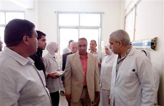 رئيس مركز ومدينة بركة السبع يتفقد مصابى حادث طريق النصر