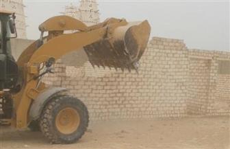 بالصور.. إزالة 31 حالة تعدٍ على أراضي أملاك الدولة بالعلالمة وأبو سليم