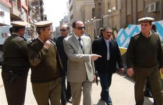 بالصور.. مدير أمن المنوفية يتفقد الخدمات الأمنية أمام الكنائس والجامعة