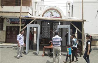 تعزيزات أمنية مكثفة بمحيط الكاتدرائية المرقسية بالإسكندرية بالتزامن مع قداس عيد القيامة