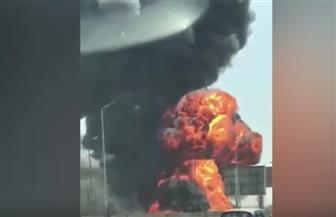 """رئيس """"أنابيب البترول"""": كسر خط غاز شارع التسعين بسبب لودر.. والسيطرة على الحريق"""