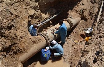 """الانتهاء من إصلاح كسر بماسورتي مياه """"26 يوليو"""" و""""جسر السويس"""""""