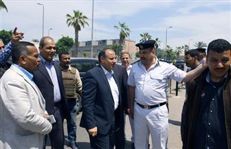 بالصور.. محافظ الإسكندرية يشدد على  تكثيف الحملات الأمنية بحديقة الشلالات