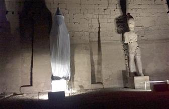 """""""معلومات الوزراء"""" ينشر صورة الاستعدادات النهائية لإزالة الستار عن تمثال رمسيس الثاني أمام معبد الاقصر"""