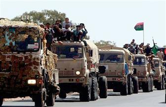 الجيش الوطني الليبي يقصف آليات تابعة للميليشيات الموالية لتركيا في مدينة براك الشاطئ