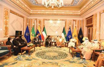 الشيخ صباح الأحمد يستقبل البابا تواضروس بقصر بيان بالكويت   صور