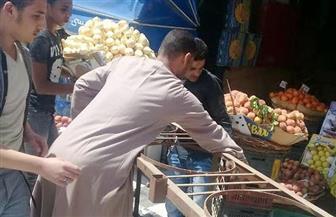 حملة لإزالة  الإشغالات والمخالفات بحي الهرم