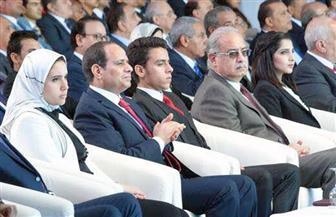 السيسي يطلب من المشاركين في مؤتمر الشباب بالإسماعيلية بالوقوف دقيقة حدادًا على شهداء الوطن