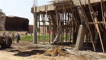 إزالة 2465 إشغال طريق وإيقاف بناء 6 مبان مخالفة في حملة بالبحيرة