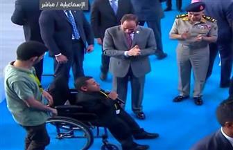 شاب من ذوي الاحتياجات الخاصة للرئيس: نفسي أخدم في جيش بلدي.. وأدعو الشعب للوقوف بجوار مصر