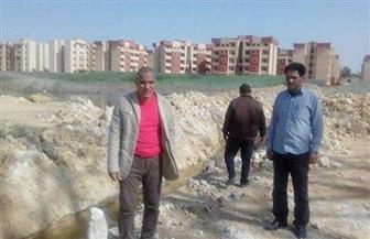 الانتهاء من معاينة موقع كوبري مزلقان السكة الحديد بمدينة الحمام |صور