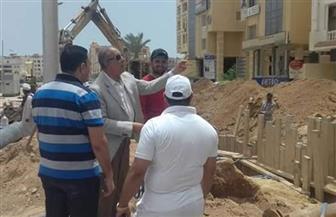 محافظ البحر الأحمر يتابع أعمال التطوير بشوارع الغردقة  صور