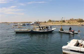 ضبط 5236 قضية داخل المسطح المائى وتحطيم 38 بؤرة لتجميع الأسماك بأسوان