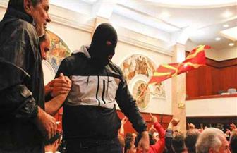 اقتحام برلمان مقدونيا بعد انتخاب رئيس له من أصل ألباني
