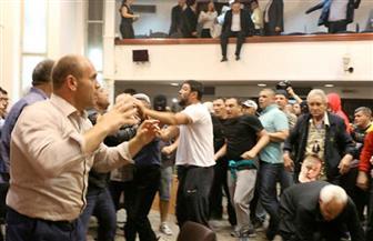 100 جريح في أعمال عنف بالبرلمان المقدوني