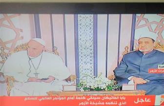 الإمام الأكبر يطلب من البابا الوقوف دقيقة حدادًا على روح ضحايا الإرهاب أى كانت أديانهم