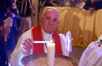 بابا الفاتيكان يؤدي الصلاة المسكونية بالكنيسة البطرسية| صور