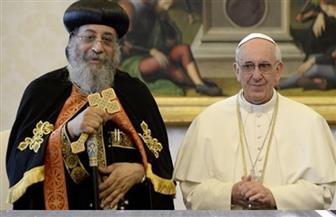 البابا تواضروس أمام بابا الفاتيكان: المصريون يظهرون وقت الأزمات.. وكل حادث إرهابي يثبت أنهم شعب  واحد