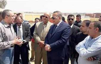بالصور.. محافظ الجيزة يتفقد مشروع الصرف الصحي المتكامل بمركز العياط