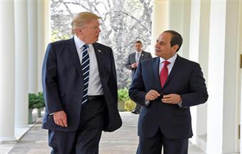 """السيسي لـ""""ترامب"""": نثق في قدرة إدارتكم على مواجهة الإرهاب بالعالم"""