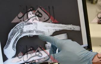 بالصور.. الأشعة السينية تلتقط صورًا لبنادق ومسدسات أسطول نابليون بونابرت بالمتحف المصرى الكبير