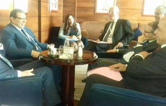 """بالصور.. """"سعفان"""" يبحث مع وزير العمل اللبناني الملفات التي تهم العمالة المصرية"""