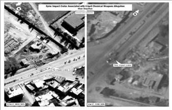 """البنتاجون تنشر صورة تزعم أنها """"تظهر تأثير استخدام الأسلحة الكيماوية"""" في سوريا"""