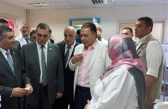 وزير الصحة يتفقد مستشفى التأمين الصحي بالفيوم بعد تطويره.. ويشيد بالخدمة الطبية | صور