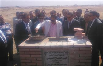 وزير الصحة ومحافظ الفيوم يضعان حجر الأساس لمستشفى الفيوم العام الجديد