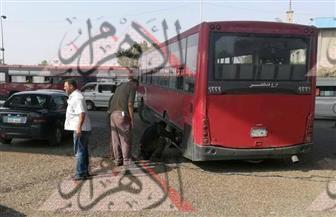 بالصور.. كثافات مرورية بشارع امتداد رمسيس بسبب تعطل أتوبيس