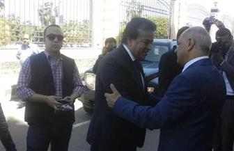 وزير التعليم العالي يفتتح كلية الألسن بكفر الشيخ ويضع حجر أساس مستشفى الطوارئ  صور