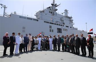 """شملت زيارة """"الميسترال """"لجنة الدفاع والأمن القومى وأعضاء من """"النواب"""" يزورون القوات البحرية"""