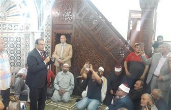 """محافظ الدقهلية يفتتح مسجد """"العمري"""" بمدينة السنبلاوين"""