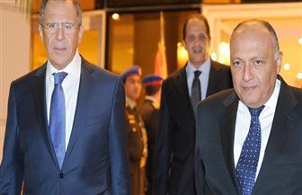 لافروف وشكري يبحثان هاتفيا سبل التوصل إلى حل سياسي للأزمة في سوريا
