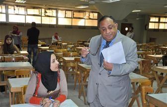 """""""نجم"""" يتفقد سير امتحانات التيرم الثاني بجامعة حلوان  صور"""